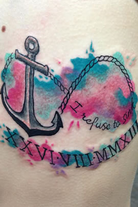 Infinity Anchor Tattoo